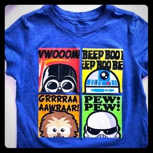 Boys Star Wars t-shirt. 4T fits more like 3T.